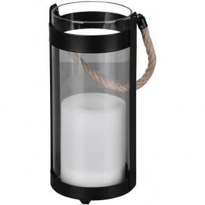 LED Tafellamp - Trion Minory - Zonne-energie - Spatwaterdicht - Mat Zwart - Aluminium