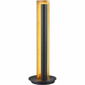 LED Tafellamp - Trion Texy - 6W - Warm Wit 3000K - Rond - Mat Zwart - Aluminium
