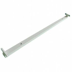 LED TL Armatuur T8 - Aigi Dybolo - 150cm Dubbel - Waterdicht IP20 - Mat Wit - Staal