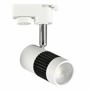 LED Track Spot / Railverlichting Richtbaar Rond Mat Zwart/Wit 8W 4200K Natuurlijk Wit Aluminium / Glas IP20