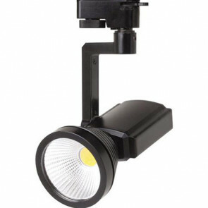 LED Track Spot / Railverlichting Richtbaar Rond Mat Zwart 7W 4200K Natuurlijk Wit Aluminium / Glas IP20