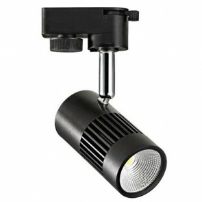 LED Track Spot / Railverlichting Richtbaar Rond Mat Zwart 8W 4200K Natuurlijk Wit Aluminium / Glas IP20