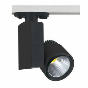 LED Track Spot / Railverlichting Richtbaar Rond/Rechthoek Mat Zwart 23W 4200K Natuurlijk Wit Aluminium / Glas IP20