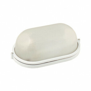 LED Tuinverlichting - Buitenlamp - Montas - Wand - Aluminium Mat Wit - E27 - Ovaal