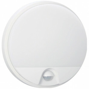 LED Tuinverlichting met Bewegingssensor - Hoktan - Wandlamp Buiten - 15W - Natuurlijk Wit 4200K - Mat Wit - Rond