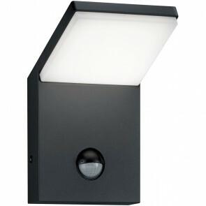 LED Tuinverlichting - Tuinlamp - Pearly - Wand - Bewegingssensor - 9W - Mat Zwart - Aluminium