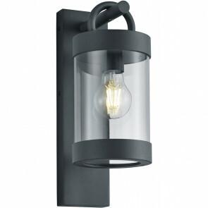 LED Tuinverlichting - Tuinlamp - Semby - Wand - Lichtsensor - E27 Fitting - Mat Zwart - Aluminium