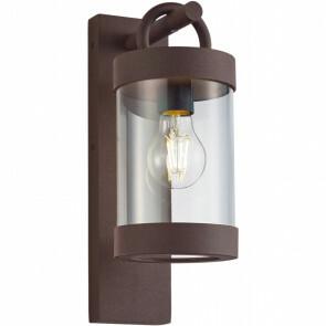 LED Tuinverlichting - Tuinlamp - Semby - Wand - Lichtsensor - E27 Fitting - Roestkleur - Aluminium