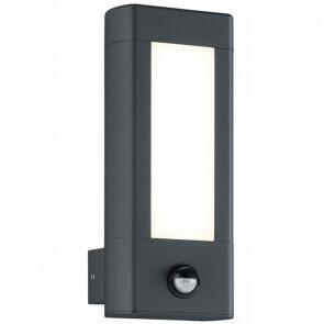 LED Tuinverlichting - Tuinlamp - Trion Rhinon - Wand - Bewegingssensor - 9W - Mat Zwart - Aluminium