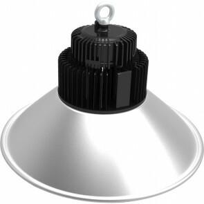LED UFO High Bay 100W - Aigi Mania - Magazijnverlichting - Waterdicht IP65 - Natuurlijk Wit 4000K - Mat Zwart - Aluminium