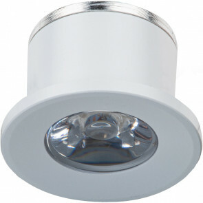 LED Veranda Spot Verlichting - 1W - Warm Wit 3000K - Inbouw - Rond - Mat Wit - Aluminium - Ø31mm