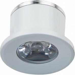 LED Veranda Spot Verlichting - 1W - Natuurlijk Wit 4000K - Inbouw - Rond - Mat Wit - Aluminium - Ø31mm