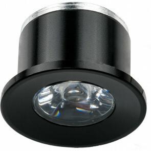 LED Veranda Spot Verlichting - 1W - Natuurlijk Wit 4000K - Inbouw - Rond - Mat Zwart - Aluminium - Ø31mm