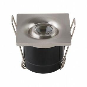 LED Veranda Spot Verlichting - Inbouw Vierkant 1W - Natuurlijk Wit 4200K - Mat Chroom Aluminium - 40mm