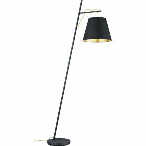 LED Vloerlamp - Trion Andra - E27 Fitting - 1-lichts - Rond - Mat Zwart - Aluminium