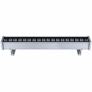 LED Wall Washer - Rogina - 18W - Warm Wit 3000K - Waterdicht IP65 - Mat Grijs - Aluminium