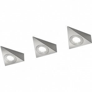 LED Wandlamp - Trion Ecoli - 9W - Warm Wit 3000K - Driehoek - Mat Nikkel - Aluminium