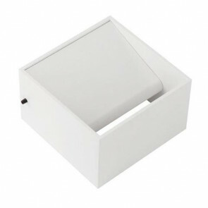 LED Wandlamp - Wandverlichting - 8W - Natuurlijk Wit 4200K - Mat Wit Aluminium - Vierkant