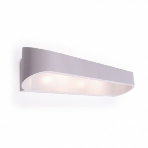 LED Wandlamp / Wandverlichting Ovaal 6W 4000K Natuurlijk Wit 24.8x7.5x6.8cm Mat Wit Aluminium IP20