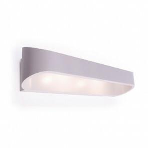 LED Wandlamp / Wandverlichting Ovaal 12W 4000K Natuurlijk Wit 41.5x7.5x6.8cm Mat Wit Aluminium IP20