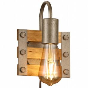 LED Wandlamp - Wandverlichting - Trion Khon - E27 Fitting - 1-lichts - Vierkant - Mat Nikkel - Aluminium