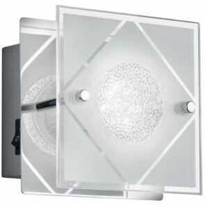 LED Wandlamp - Wandverlichting - Trion Mura - GU10 Fitting - Warm Wit 3000K - 1-lichtpunt - Vierkant - Mat Chroom - Aluminium