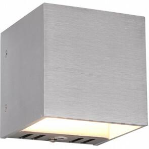 LED Wandlamp WiZ - Trion Figlio - 5W - Aanpasbare Kleur - RGBW - Vierkant - Mat Grijs - Aluminium