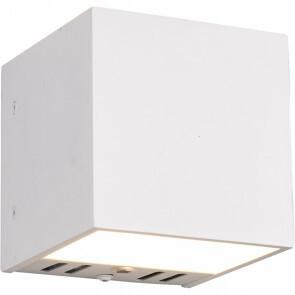 LED Wandlamp WiZ - Trion Figlio - 5W - Aanpasbare Kleur - RGBW - Vierkant - Mat Wit - Aluminium