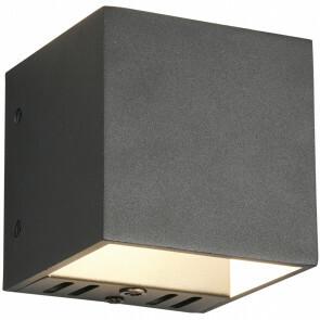 LED Wandlamp WiZ - Trion Figlio - 5W - Aanpasbare Kleur - RGBW - Vierkant - Mat Zwart - Aluminium