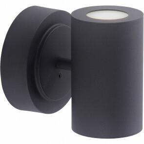 LED Wandlamp WiZ - Trion Sanca - 6W - Aanpasbare Kleur - 2-lichts - Rechthoek - Mat Zwart - Aluminium