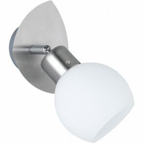 LED Wandspot - Trion Frudo - 4W - E14 Fitting - Warm Wit 3000K - Rond - Mat Nikkel - Aluminium