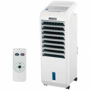 Luchtkoeler - Air Cooler - Luchtbevochtiger - Aigi Coldy - Afstandsbediening - Timer - 5 Liter - Wit