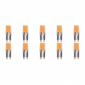 MEGAMAN - LED Lamp 10 Pack - Strimo - G9 Fitting - 2.2W - Warm Wit 2700K | Vervangt 25W