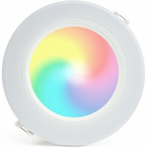 Mi-Light - LED Downlight - Smart LED - 6W - RGB+CCT - Aanpasbare Kleur - Dimbaar - Inbouw Rond - Mat Wit - Aluminium - Ø120mm