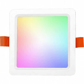 Mi-Light - LED Downlight - Smart LED - 9W - RGB+CCT - Aanpasbare Kleur - Dimbaar - Inbouw Vierkant - Mat Wit - Aluminium - 120mm
