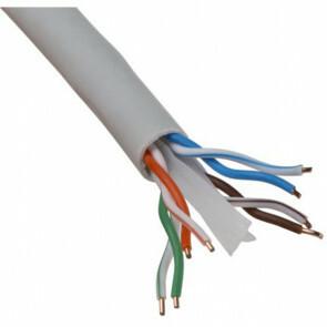 Netwerkkabel - Viron Cata - Cat6 UTP Box - 100 Meter - Stugge Kern - Koper - Grijs