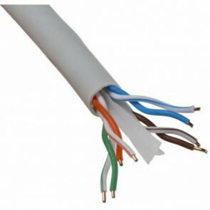Netwerkkabel - Viron Cata - Cat6 UTP Box - 305 Meter - Stugge Kern - Koper - Grijs