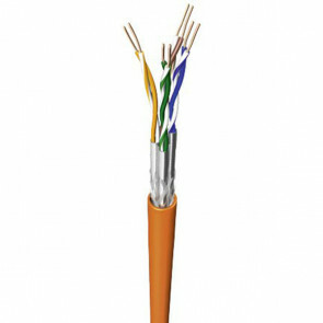 Netwerkkabel - Viron Cata - Cat7 UTP Box - 100 Meter - Stugge Kern - Koper - Oranje