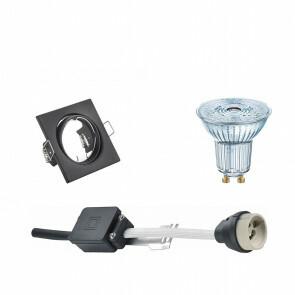 OSRAM - LED Spot Set - Parathom PAR16 940 36D - GU10 Fitting - Dimbaar - Inbouw Vierkant - Mat Zwart - 3.7W - Natuurlijk Wit 4000K - Kantelbaar 80mm