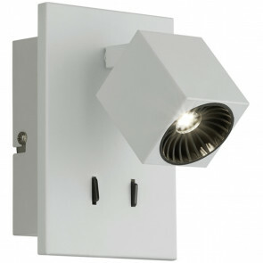 OSRAM - LED Wandspot - Trion Klipo - 7W - Warm Wit 3000K - Rechthoek - Mat Wit - Aluminium