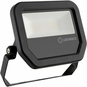 OSRAM - LEDVANCE - LED Breedstraler 20 Watt - LED Schijnwerper - FL PFM SYM 100 BK - Helder/Koud Wit 6500K - Mat Zwart - Aluminium