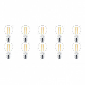 PHILIPS - LED Lamp 10 Pack - SceneSwitch Filament 827 A60 - E27 Fitting - Dimbaar - 1.6W-7.5W - Warm Wit 2200K-2700K | Vervangt 16W-60W