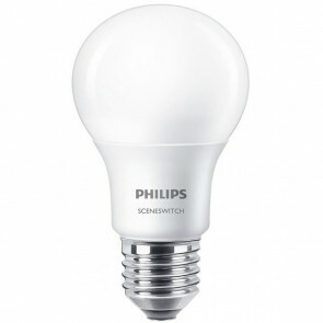 PHILIPS - LED Lamp - SceneSwitch 827 A60 - E27 Fitting - Dimbaar - 2W-8W - Warm Wit 2200K-2700K   Vervangt 60W
