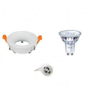 PHILIPS - LED Spot Set - SceneSwitch 827 36D - GU10 Fitting - Dimbaar - Inbouw Rond - Mat Wit - 1.5W-5W - Warm Wit 2200K-2700K - Ø85mm