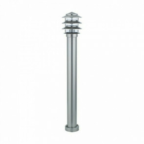 PHILIPS - LED Tuinverlichting - Staande Buitenlamp - SceneSwitch 827 A60 - Kayo 4 - E27 Fitting - Dimbaar - 2W-8W - Warm Wit 2200K-2700K - Rond - RVS