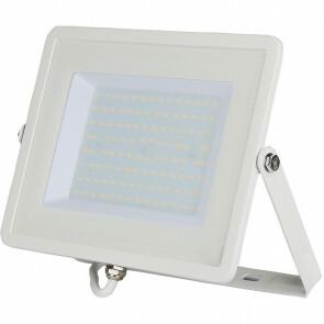 SAMSUNG - LED Bouwlamp 100 Watt - LED Schijnwerper - Viron Hisal - Helder/Koud Wit 6400K - Waterdicht IP65 - Mat Wit - Aluminium
