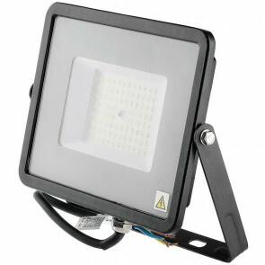 SAMSUNG - LED Bouwlamp 50 Watt - LED Schijnwerper - Viron Linan - Helder/Koud Wit 6400K - Waterdicht IP65 - Mat Zwart - Aluminium