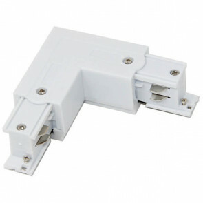 Spanningsrail Doorverbinder - Facto - Hoek L Koppeling Links - 3 Fase - Wit