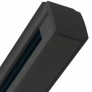 Spanningsrail - Facto - 3 Fase - Aluminium Mat Zwart - 1m