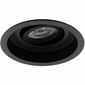 Spot Armatuur GU10 - Pragmi Domy Pro - Inbouw Rond - Mat Zwart - Aluminium - Verdiept - Kantelbaar - Ø105mm